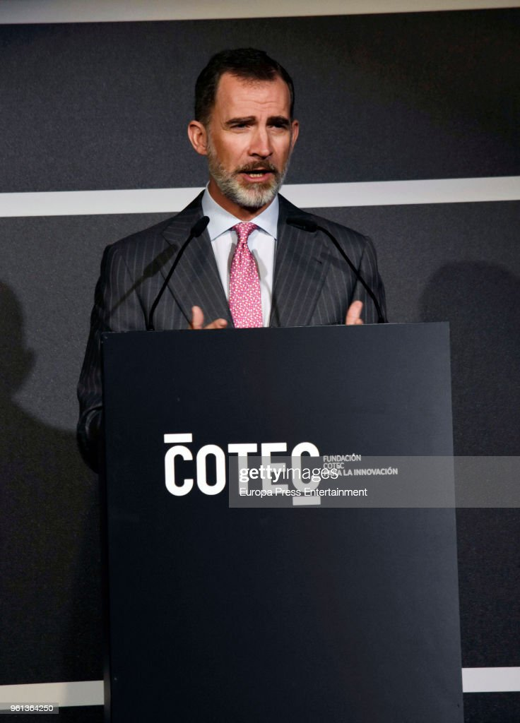 King Juan Carlos And King Felipe Attend COTEC Presentation