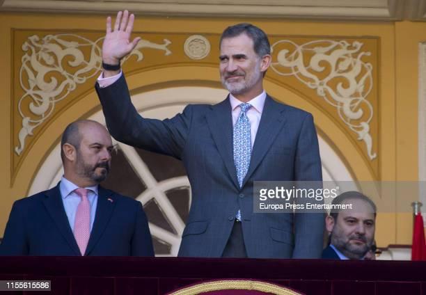 King Felipe of Spain attends La Beneficiencia Bullfight at Las Ventas Bullring on June 12 2019 in Madrid Spain