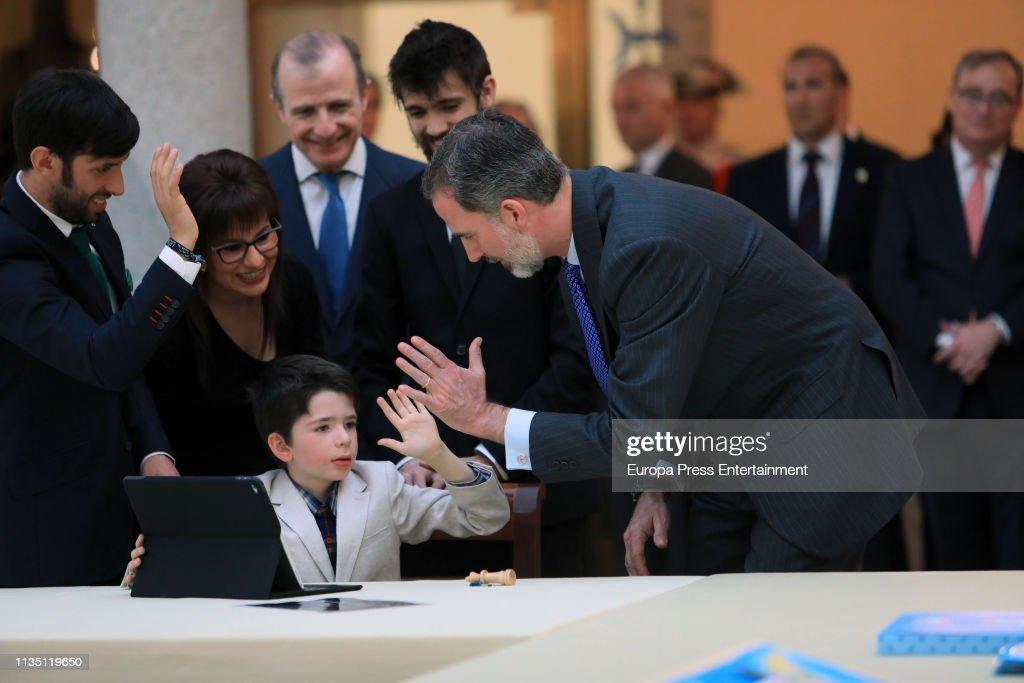 ESP: King Felipe Of Spain Attends '¿Que Es Un Rey Para Ti?'