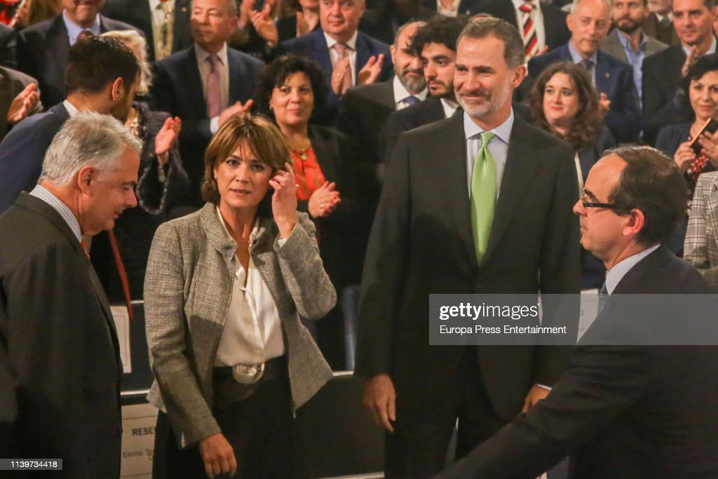 ESP: King Felipe Of Spain Attends 'Sociedad Geografica Española 2018' Awards