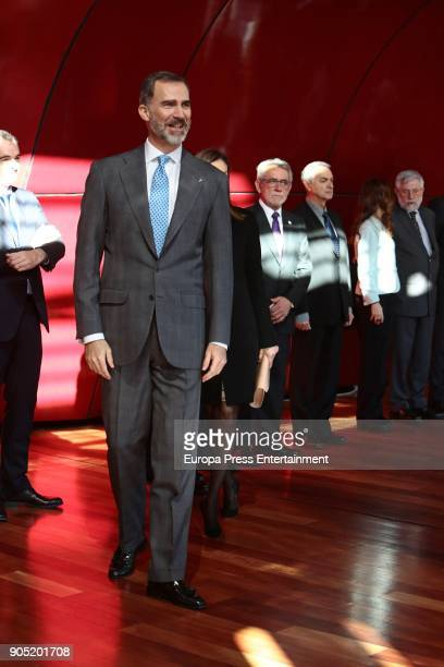 King Felipe of Spain attends Terrorism Victims Foundation Award at Reina Sofia Museum on January 15 2018 in Madrid Spain