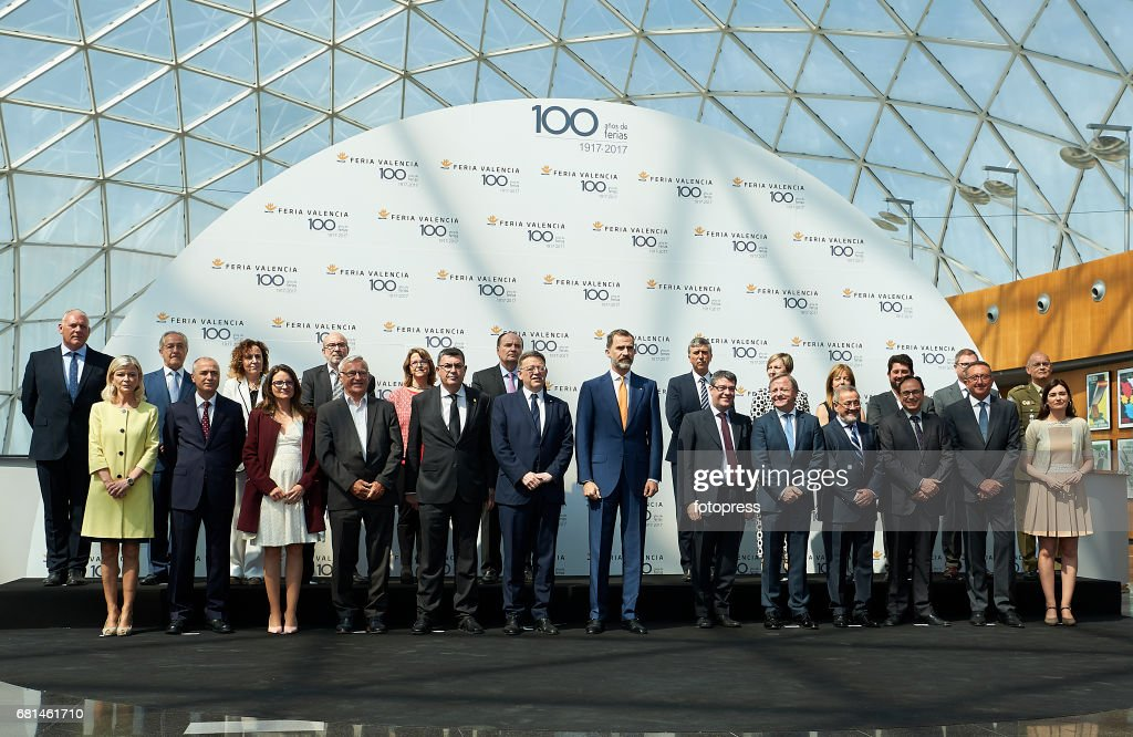 King Felipe Of Spain Attends The Celebration Of The Centenary Of Valencia's Fair Foundation on May 10, 2017 in Valencia, Spain.