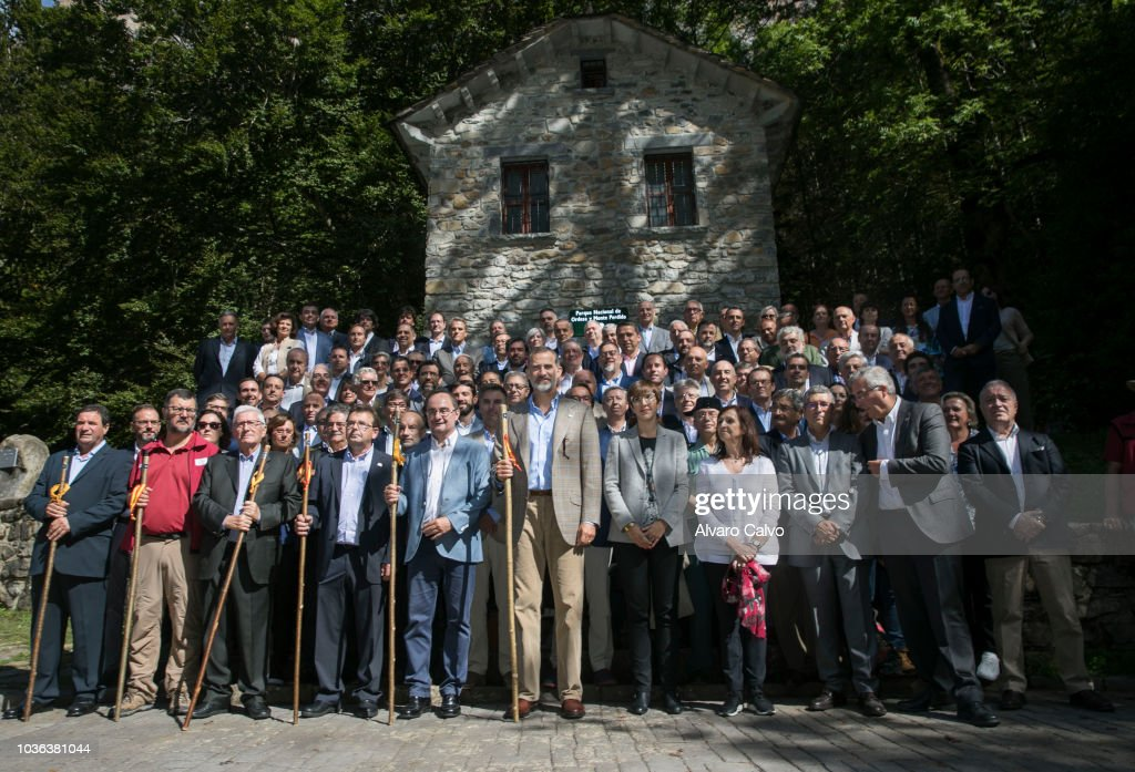King Felipe of Spain Attends The Commemorative Acts of The Centennial Of The Ordesa National Park And Monte Perdido