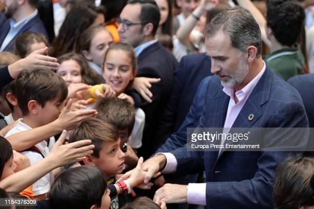 King Felipe of Spain attends the inauguration of '#Imperdible_04' Festival on June 07, 2019 in Madrid, Spain.