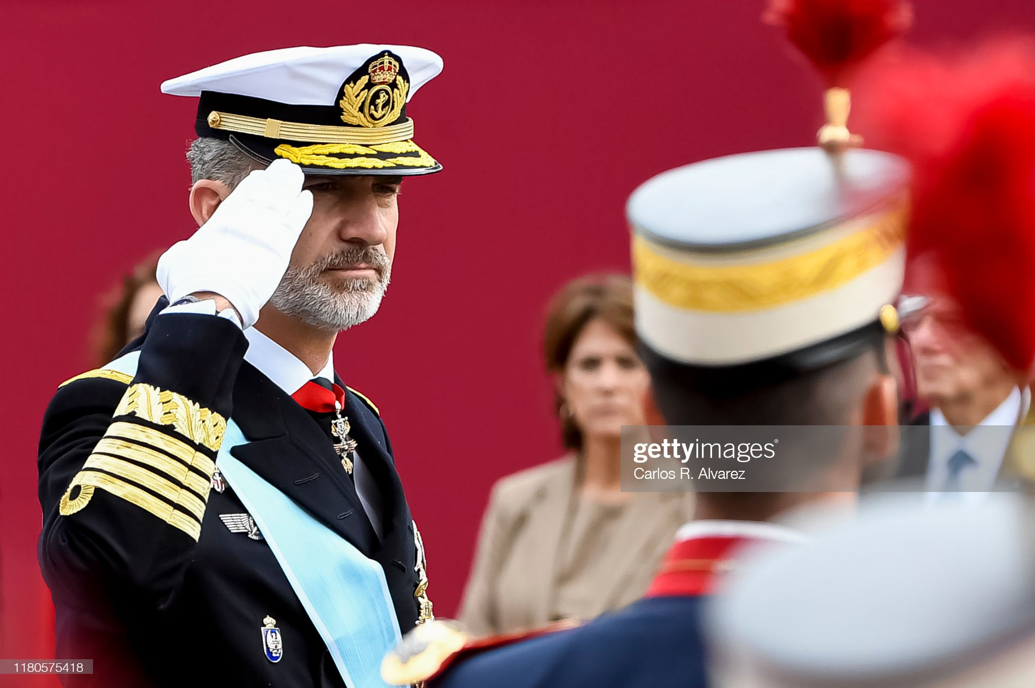 Spanish Royals Attend The National Day Military Parade : News Photo