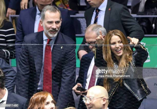 King Felipe of Spain Jose Guirao and Shakira attend Davis Cup Final at Caja Magica on November 24 2019 in Madrid Spain