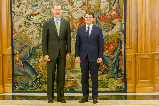 ESP: King Felipe Of Spain Meets Alfonso Fernández Mañueco