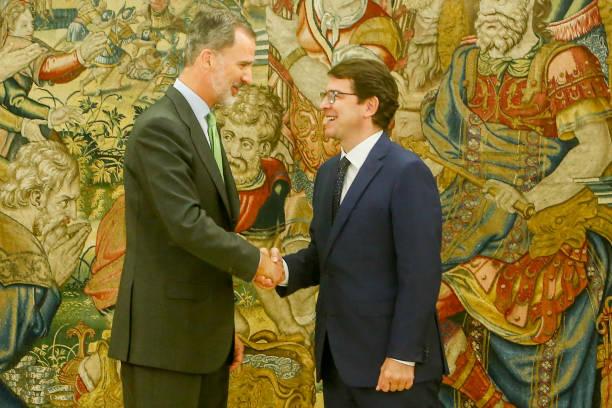 ESP: King Felipe Of Spain Meets Alfonso Fernández Mañueco