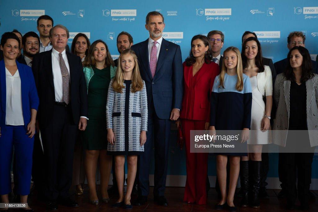 Spanish Royals Meeting With 'Princesa De Girona' Laureates : News Photo
