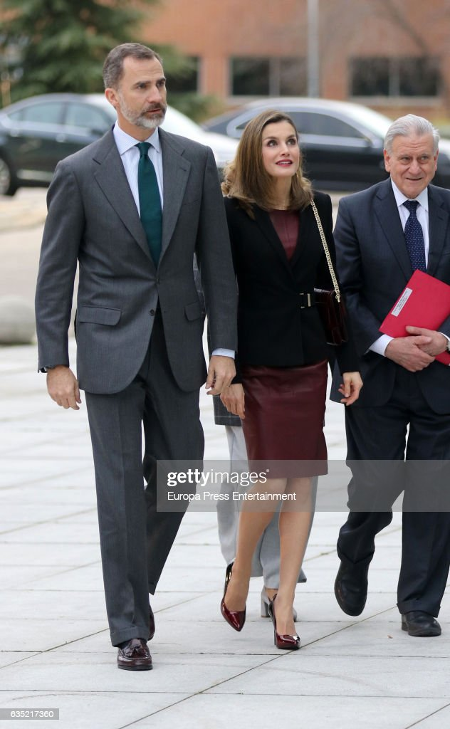 King Felipe Of Spain, Queen Letizia Of Spain And Valentin Fuster Visit  National Cardiovasculars Research