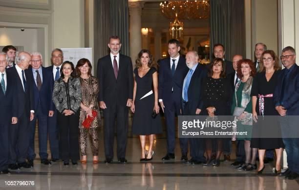 King Felipe of Spain Queen Letizia of Spain Carmen Calvo Margarita Robles Diego Carcedo Jose Antonio Zarzalejos Montserrat Dominguez Javier Garcia...