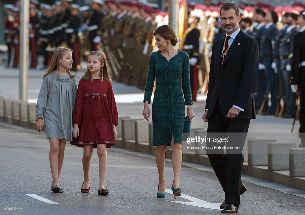 Spanish Royals Attend the 12th Legislative Sessions Opening : News Photo