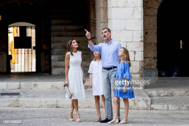 King Felipe of Spain Queen Letizia of Spain Princess Leonor of Spain and Princess Sofia of Spain on July 29 2018 in Palma de Mallorca Spain