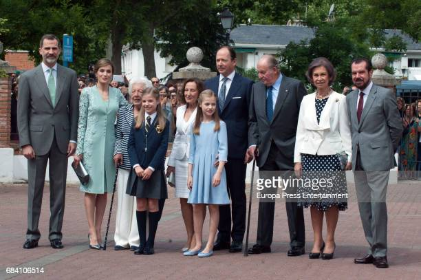 King Felipe of Spain Queen Letizia of Spain Queen Letizia's grandmother Menchu Alvarez del Valle Princess Letizia's mother Paloma Rocasolano Prince...