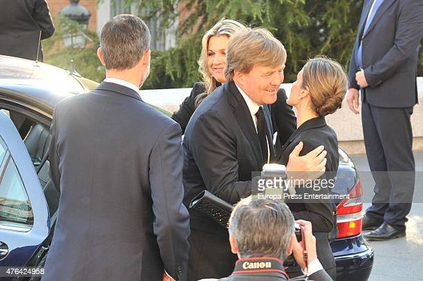 King Felipe of Spain Queen Maxima of the Netherlands King WillemAlexander of the Netherlands and Queen Letizia of Spain attend the memorial service...