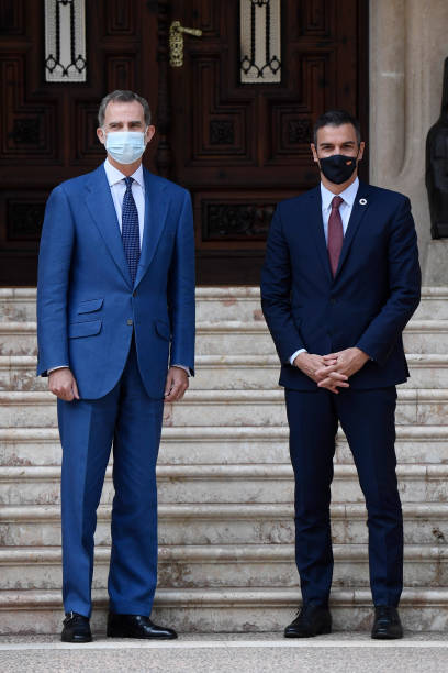 ESP: King Felipe Of Spain Receives Prime Minister Pedro Sanchez In Palma de Mallorca
