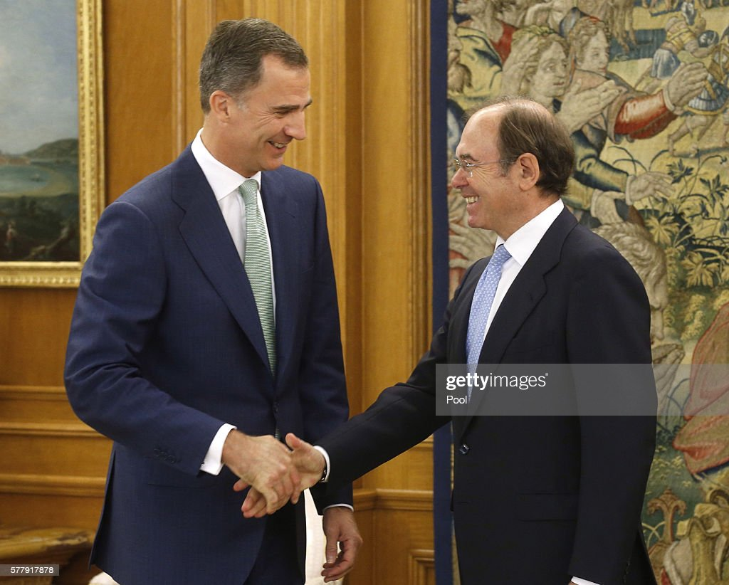 King Felipe Of Spain Receives Senate President Pio Garcia Escudero