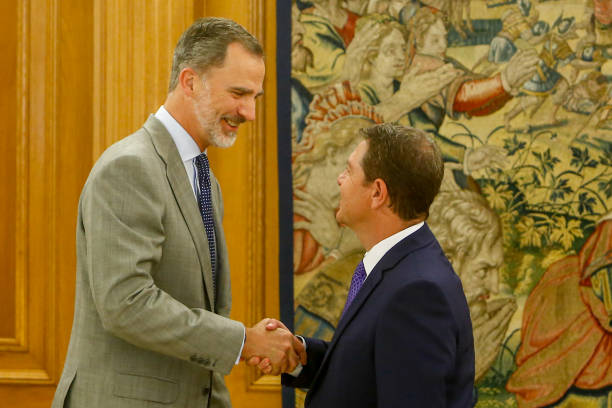 ESP: King Felipe Of Spain Receives President Of Castilla La Mancha