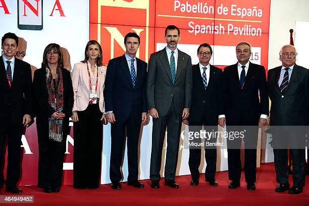 King Felipe of Spain the Spanish Minister of Development and Industry Jose Manuel Soria and Catalonian Regional Government President Artur Mas on...