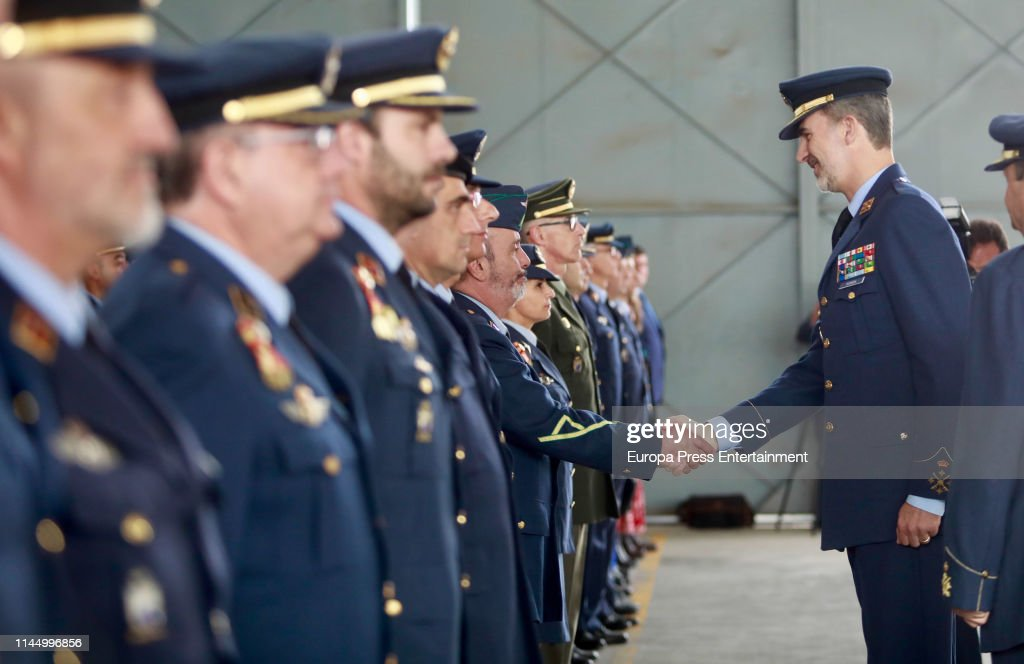 ESP: King Felipe Of Spain Visits The Armilla Air Base