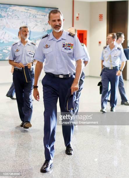 King Felipe of Spain visits the Moron military air base on September 21, 2018 in Seville, Spain.