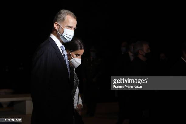 King Felipe VI and Queen Letizia during the photocall of the 70th edition of the Planeta Novel Prize, at the Museu Nacional d'Art de Catalunya, on 15...