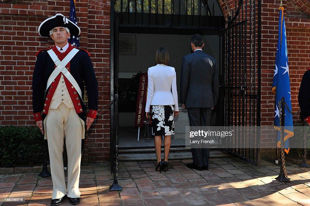 King Felipe VI and Queen Letizia Of Spain Visit George Washington's Mount Vernon : News Photo