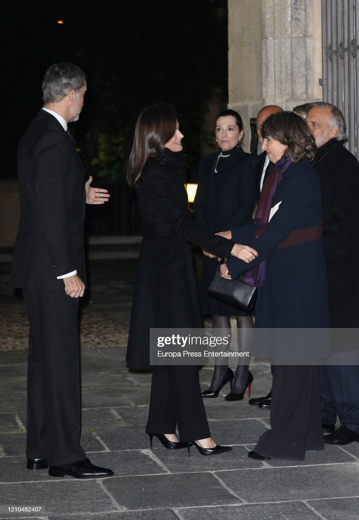 Spanish Royals Attend Placido Arango's Funeral : News Photo