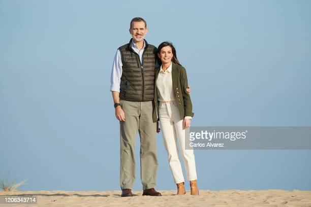 King Felipe VI and Queen Letizia of Spain visit Doñana National Park during the 50th anniversary commemoration of the Doñana National Park on...