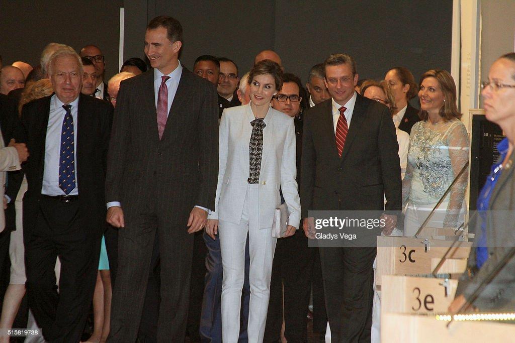 King Felipe VI And Queen Letizia Visit Museo de San Juan on March 15, 2016 in San Juan, Puerto Rico.