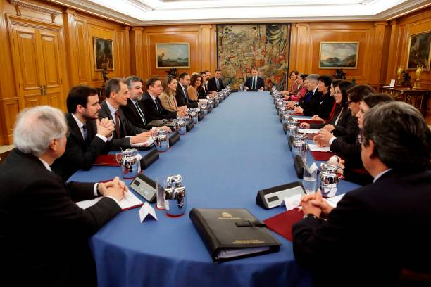 ESP: King Felipe Of Spain Presides Over The Council Of Ministers In The Zarzuela Palace