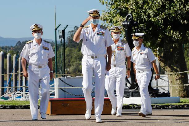 ESP: King Felipe Of Spain Visits Naval Command In Tui