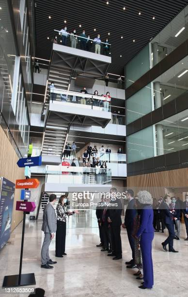 King Felipe VI , during the inauguration of the new Airbus campus, on 15 April 2021, in Getafe, Madrid, . This campus makes the region the third...