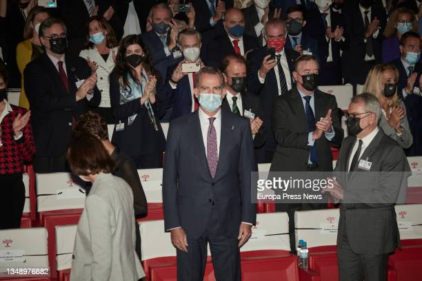 King Felipe VI during the opening of the XXIV National Congress of Family Businesses at the Baluarte Conference Centre and Auditorium, on 25 October,...