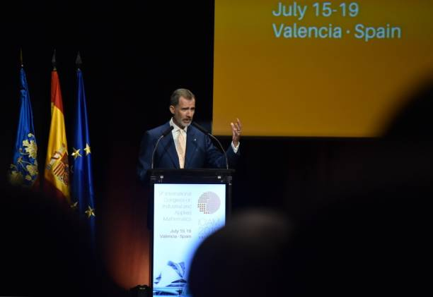 ESP: King Felipe VI At Palace of Congresses of Valencia