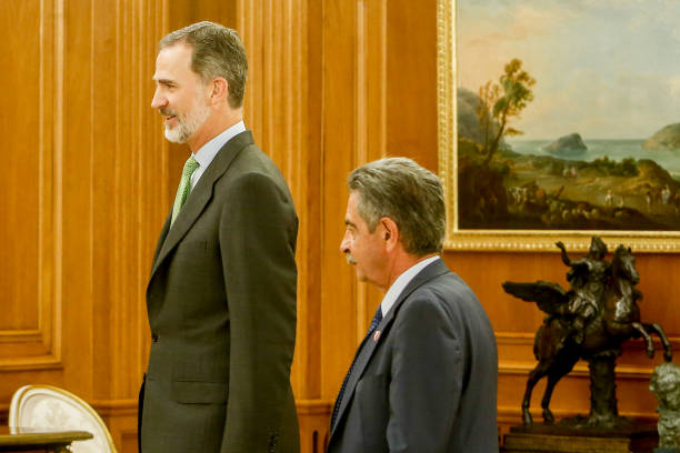 ESP: King Felipe Of Spain Meets Miguel Ángel Revilla