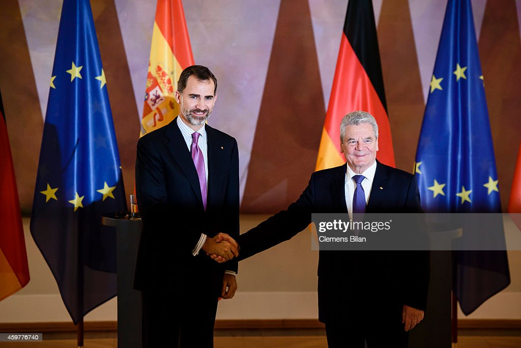 King Felipe VI Of Spain and Queen Letizia Of Spain Visit Germany : News Photo