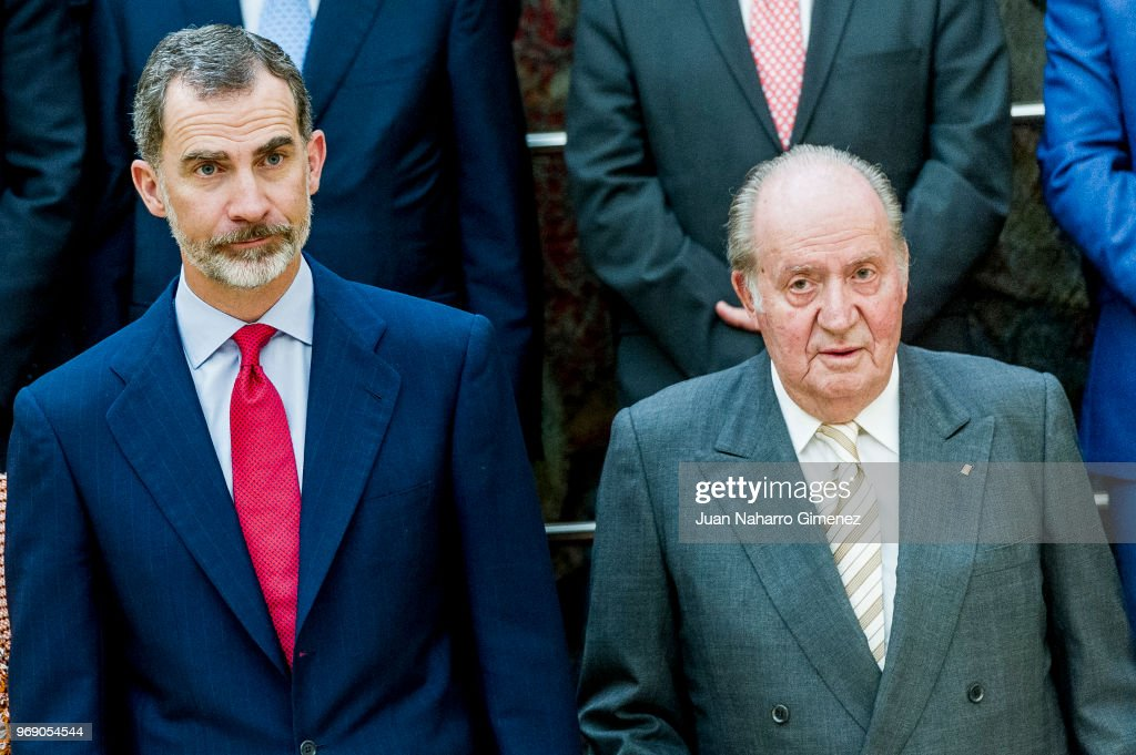 King Juan Carlos And King Felipe of Spain Meets COTEC Foundation Members : News Photo
