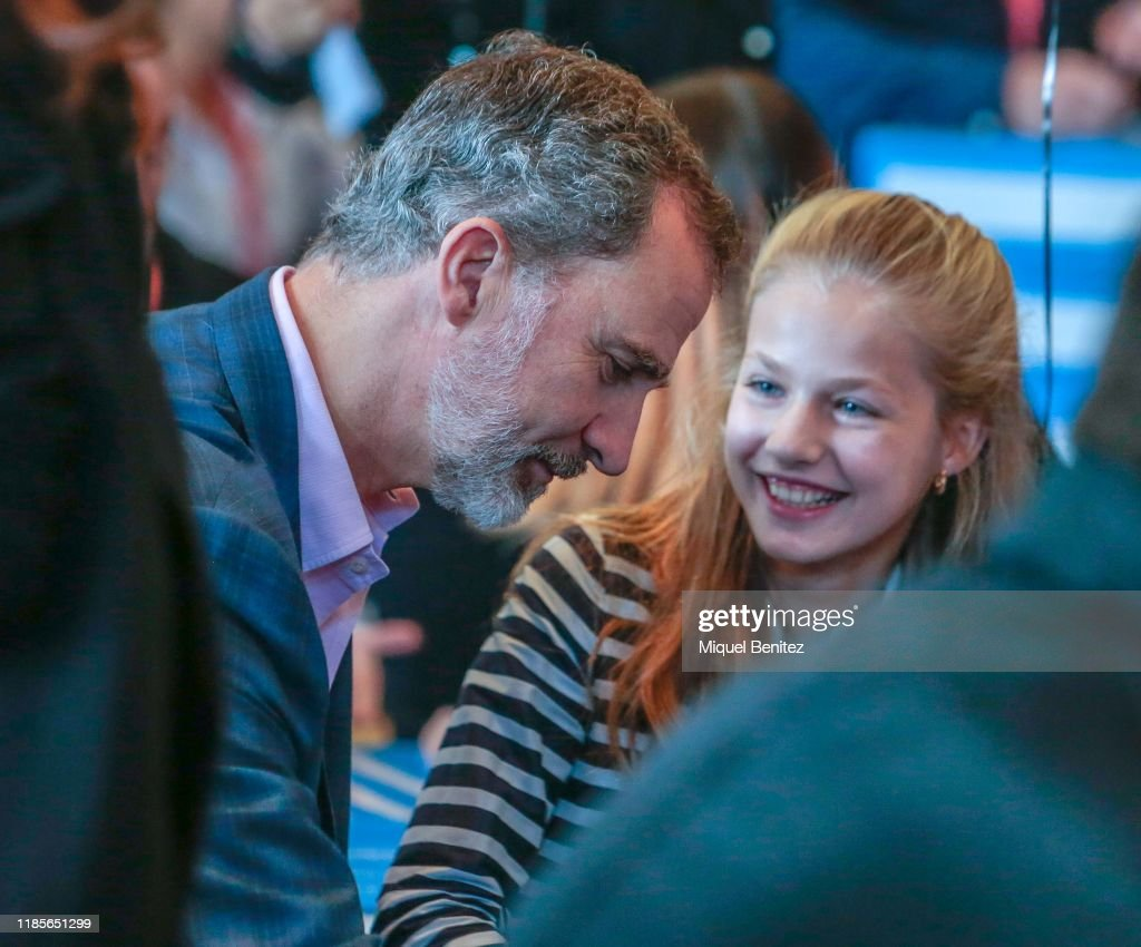 Spanish Royals Attend Princess of Girona Symposium  'El Talento Atrae Al Talento' : News Photo