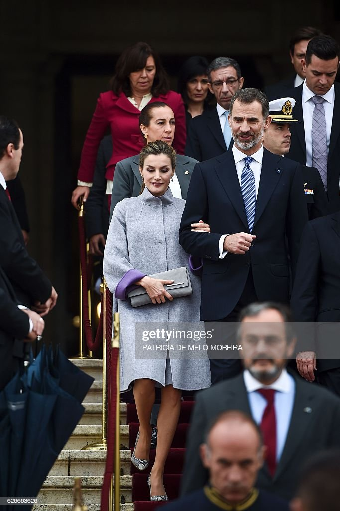 PORTUGAL-SPAIN-DIPLOMACY-ROYALS : News Photo