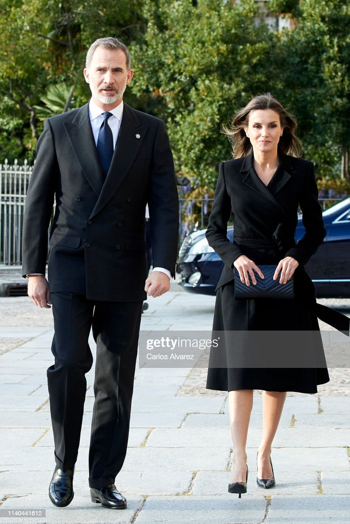 ESP: Spanish Royals Attend Memoriam Funeral For Jose Pedro Perez-Llorca Rodrigo