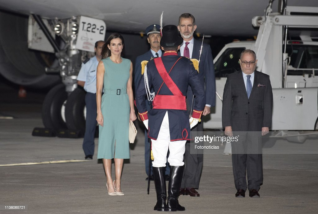 ARG: Arrival of King Felipe II and Queen Letizia  to Buenos Aires