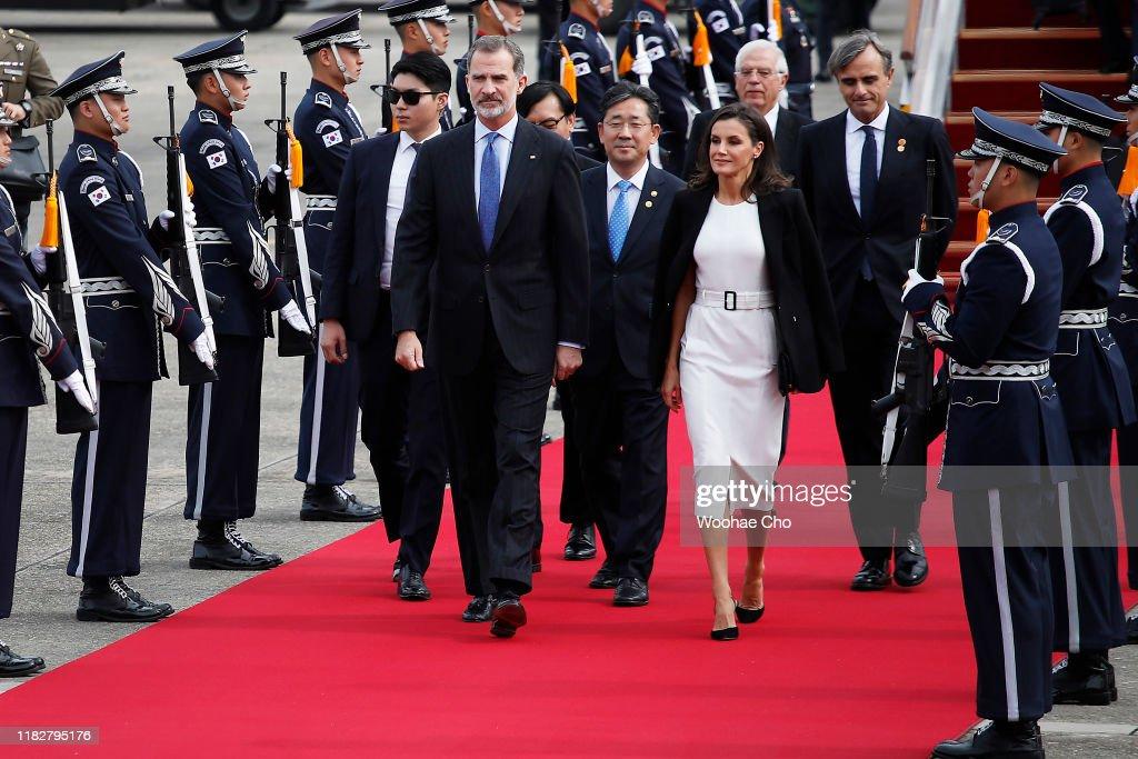 Spanish Royals Visit South Korea - Day 1 : News Photo