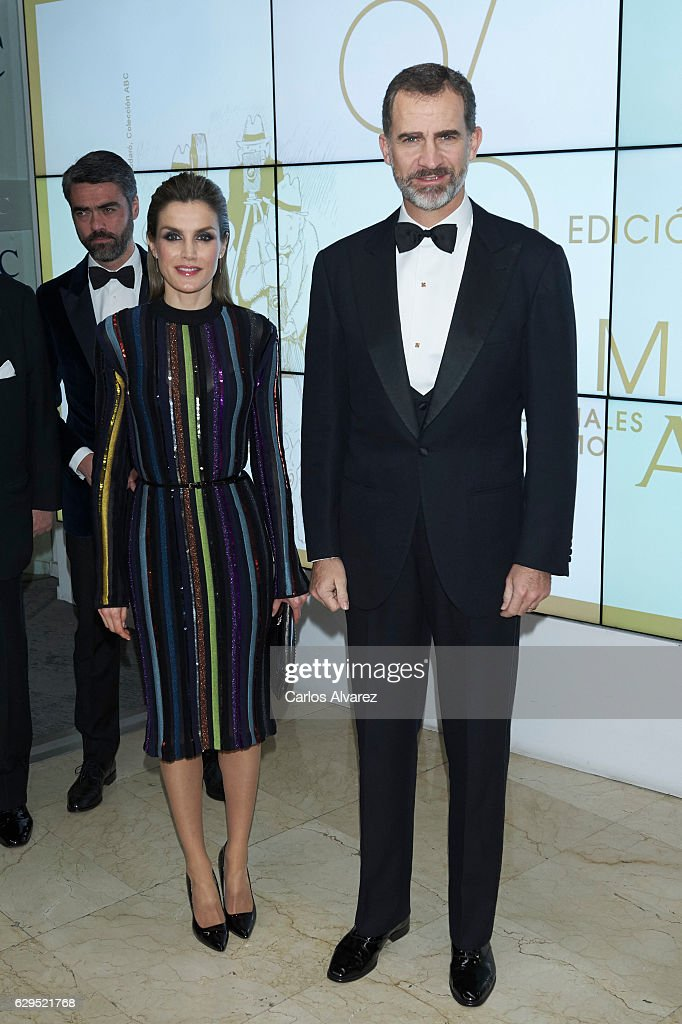Spanish Royals Attends Official Dinner With 'Mariano De Cavia', Luca De Tena' And 'Mingote' Award's Winners : News Photo