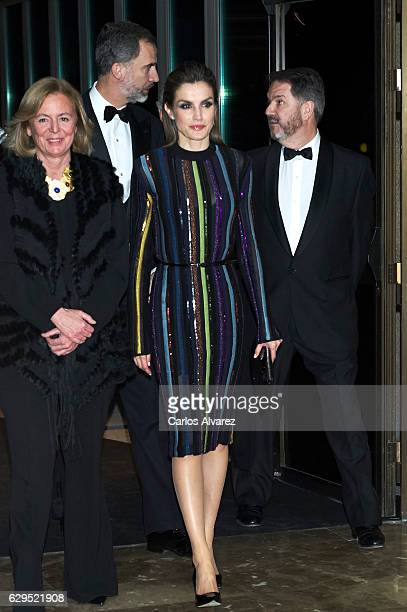 King Felipe VI of Spain and Queen Letizia of Spain attend a dinner in honour of 'Mariano de Cavia' 'Mingote' and 'Luca de Tena' awards winners at ABC...