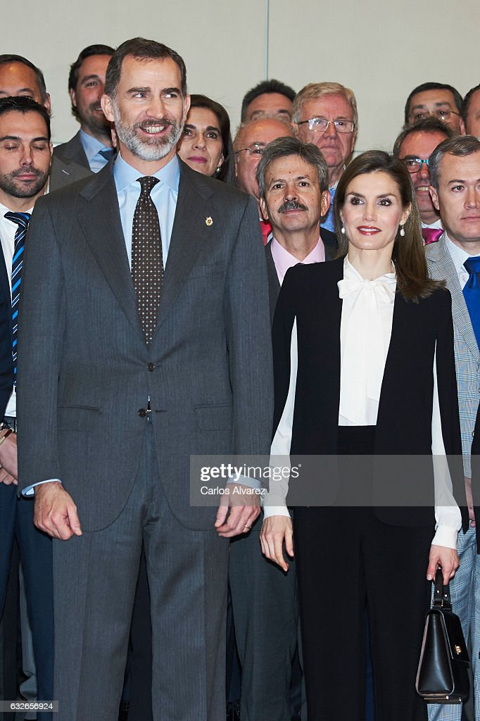 Spanish Royals Attend 'Agroexpo' : News Photo