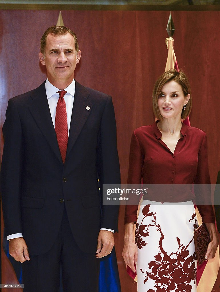 Spanish Royals Attend an Official Lunch at the Constitutional Court : News Photo