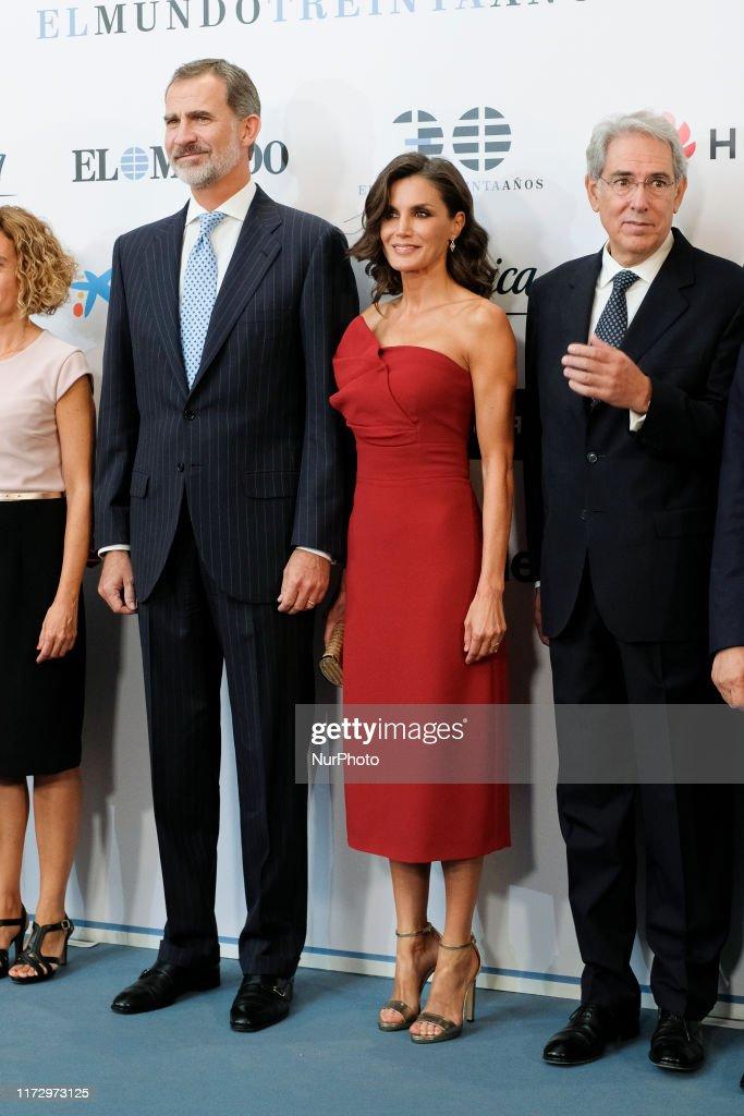 Spanish Royals Attend 'El Mundo' Newspaper 30th Anniversary : News Photo