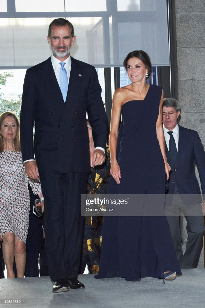 Spanish Royals Attend 'Fausto' At The Royal Theatre