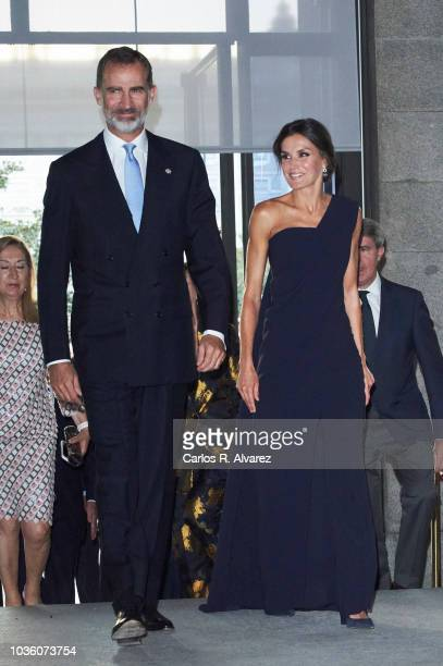 Nuria Gonzalez attends 'Fausto' opera during the opening of the Royal Theatre new season on September 19 2018 in Madrid Spain
